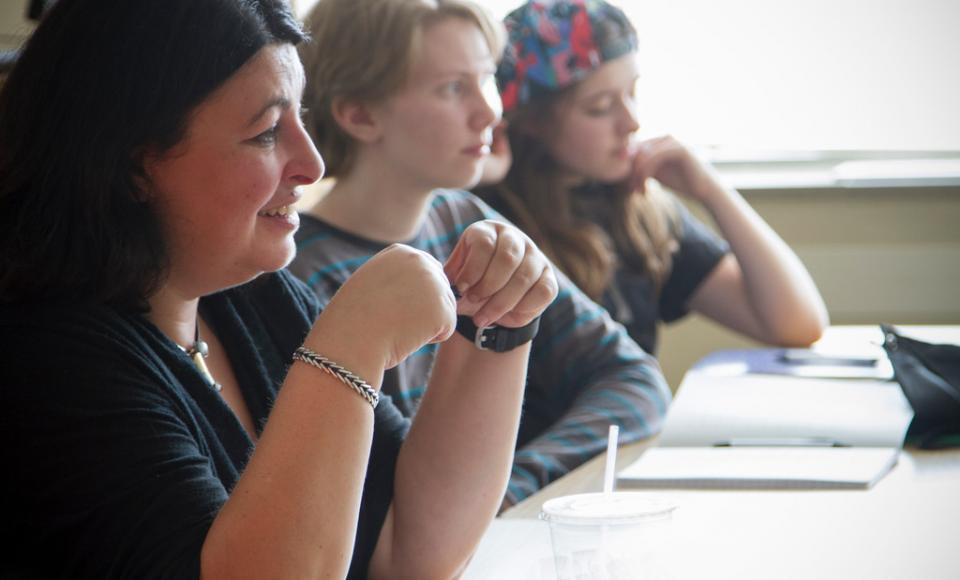 At the IYWP's 2016 Junior High Writing Conference, students had the opportunity to take a fiction workshop with nationally recognized YA novelist Michelle Falkoff.