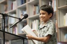 IYWP youth author reading at Prairie Lights bookstore